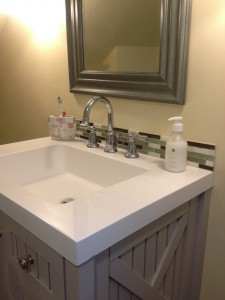 sink with tile detail