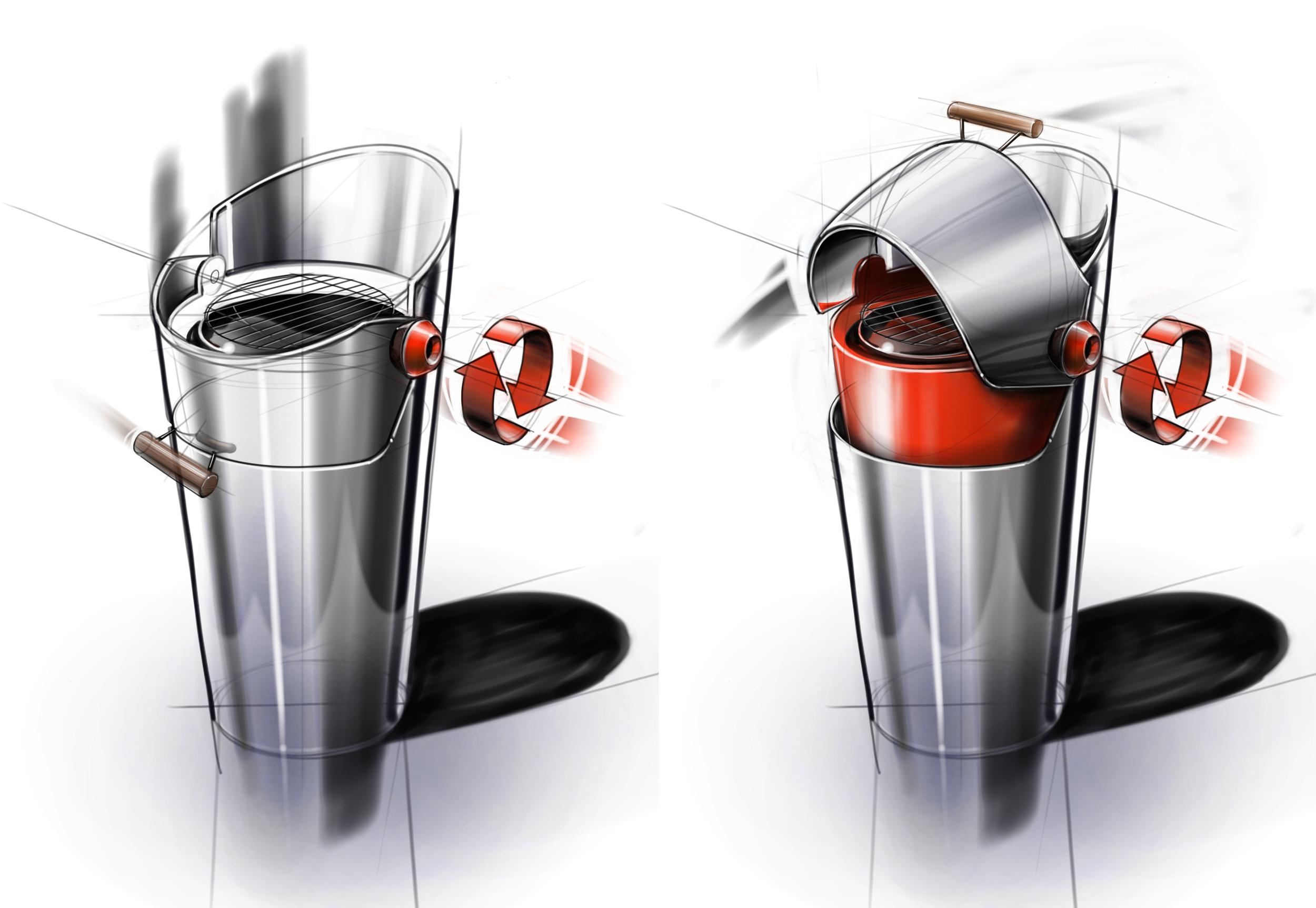 Waarmakers Design sketching Barbecook Concept