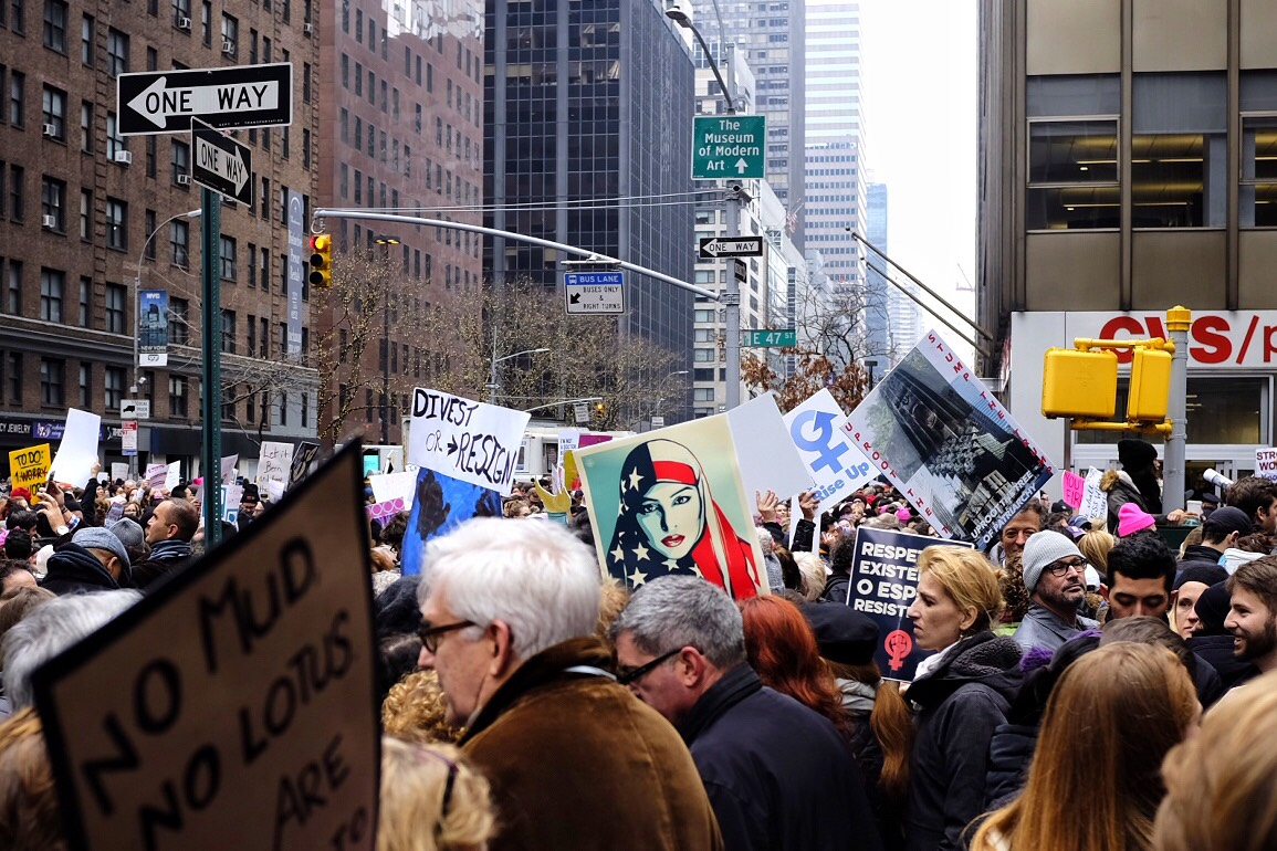 NYC Women's March: January 21st, 2017