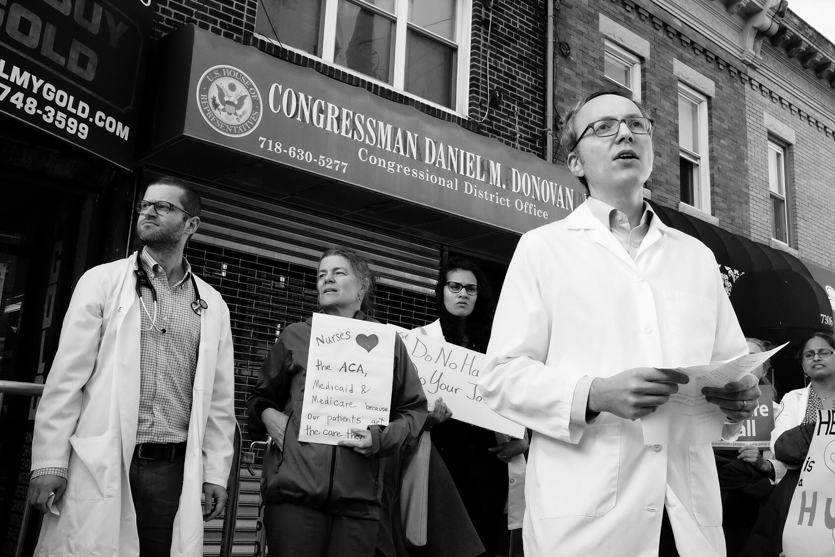 #HealthProfessionals Protest: Rep. Dan Donovan's Office (February 25th, 2017)
