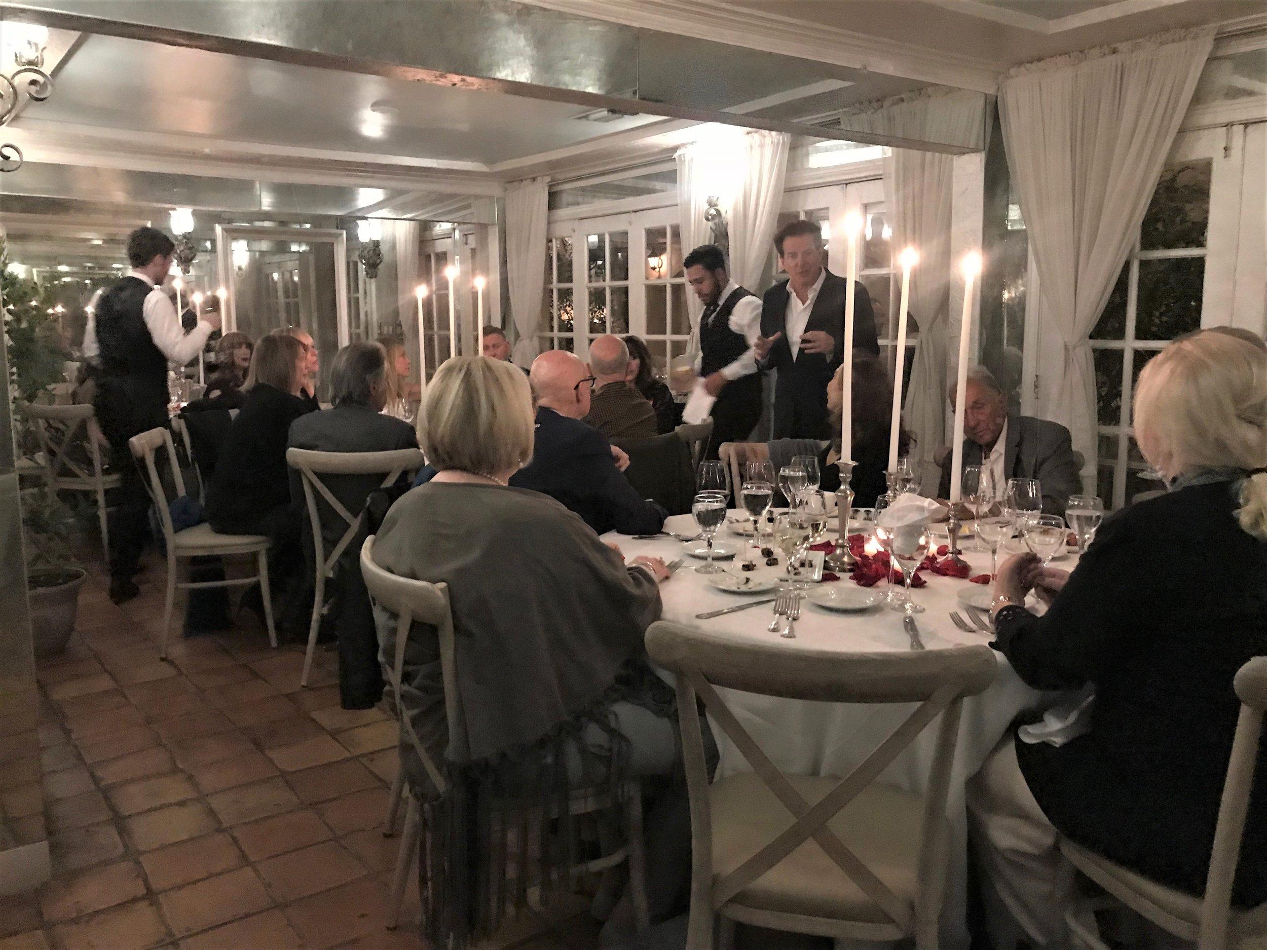 Shabbat Dinner at Il Cielo - 11/3/17
