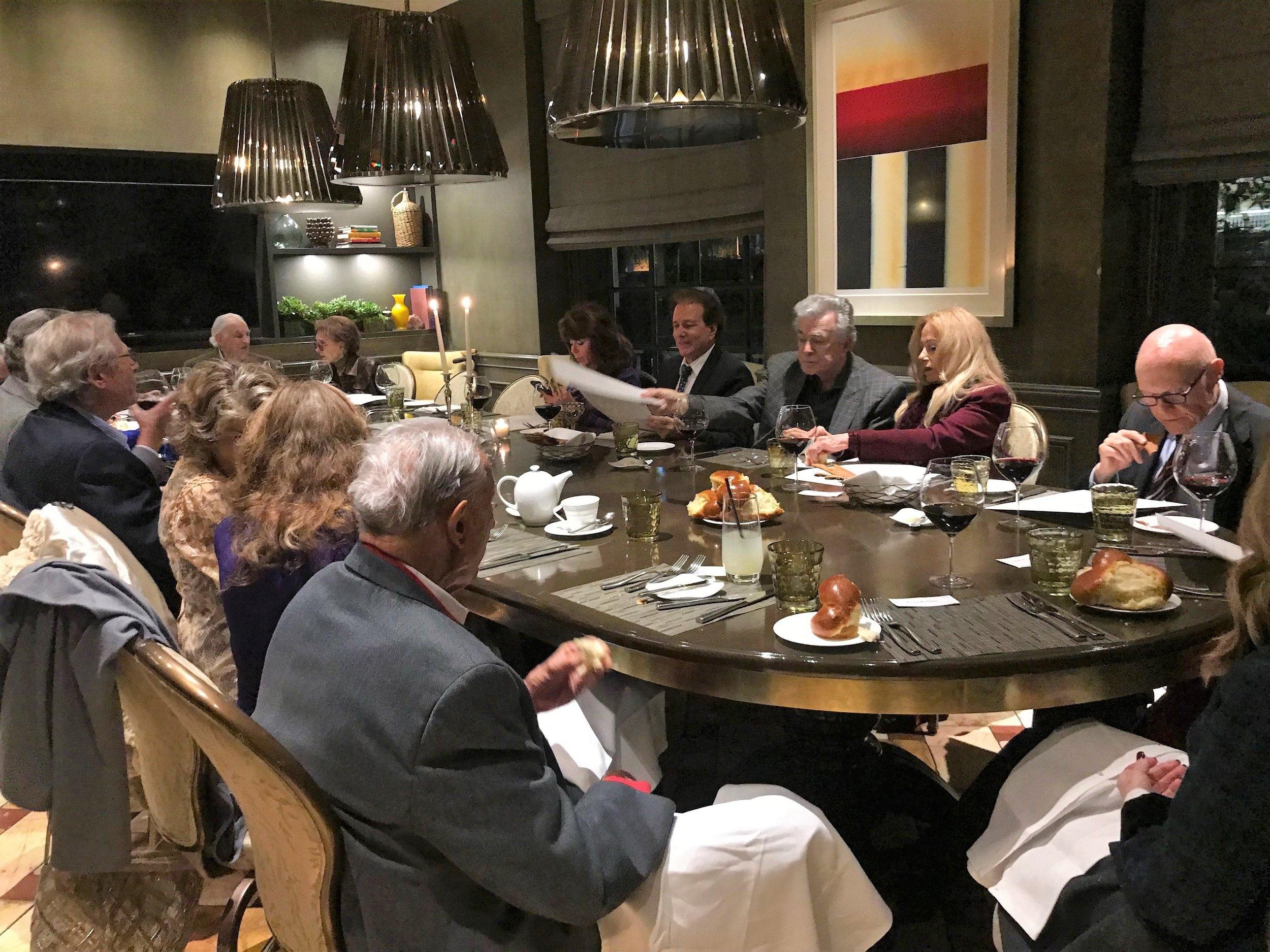 Shabbat Dinner at Culina Four Seasons - 1/12/18