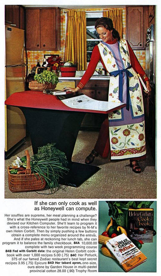 Advertisement Honeywell Kitchen Computer