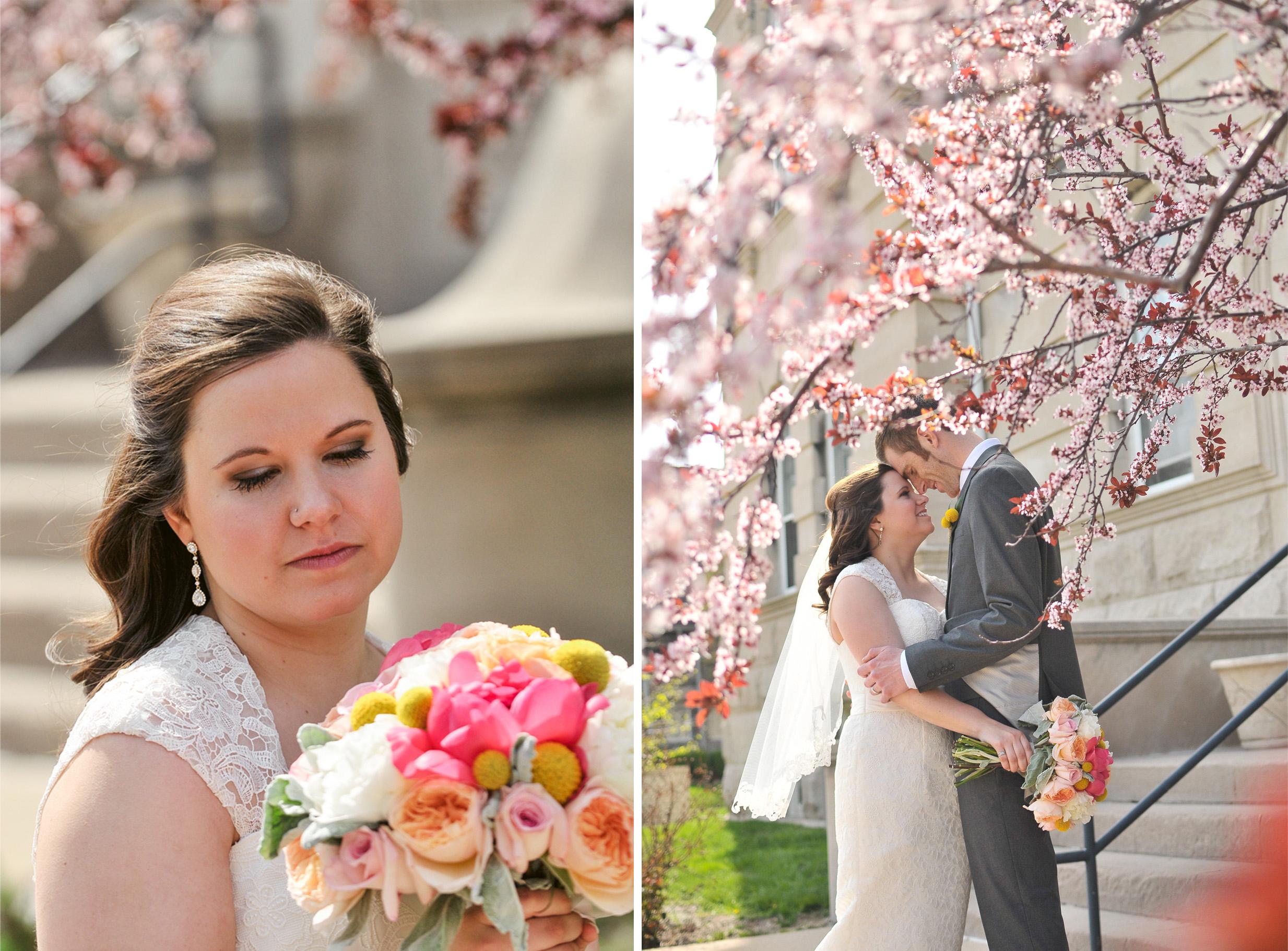 spring magnolia wedding pictures