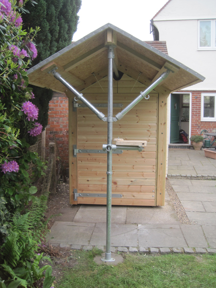 Bike shed - with unique sliding system