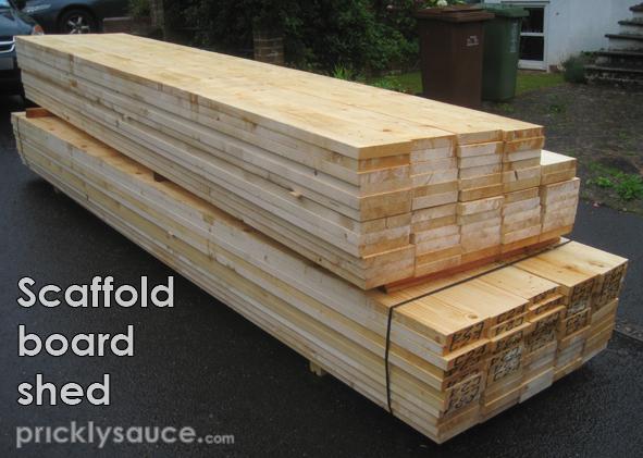 Garden Room - Two tonnes of scaffold boards...