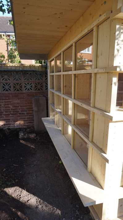 Garden Room - Bench seat for future barbeques