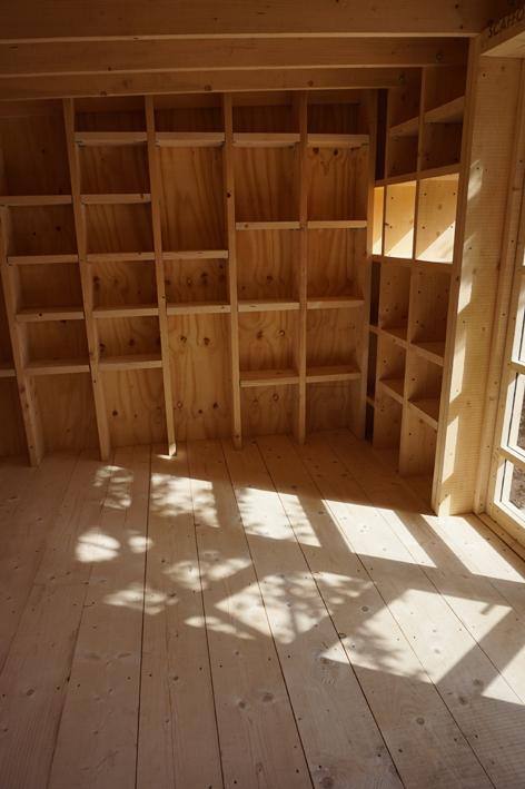 Garden Room -  Rough sawn tember interior