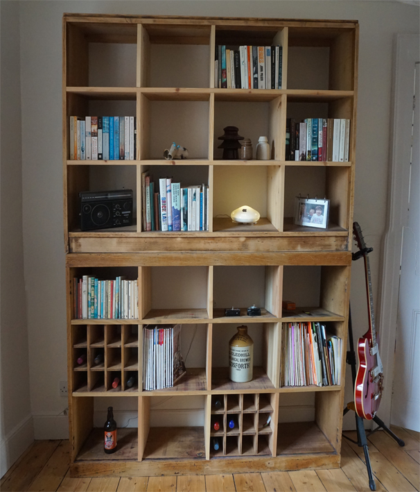 Re-cycled shelving -  Display + storage furniture