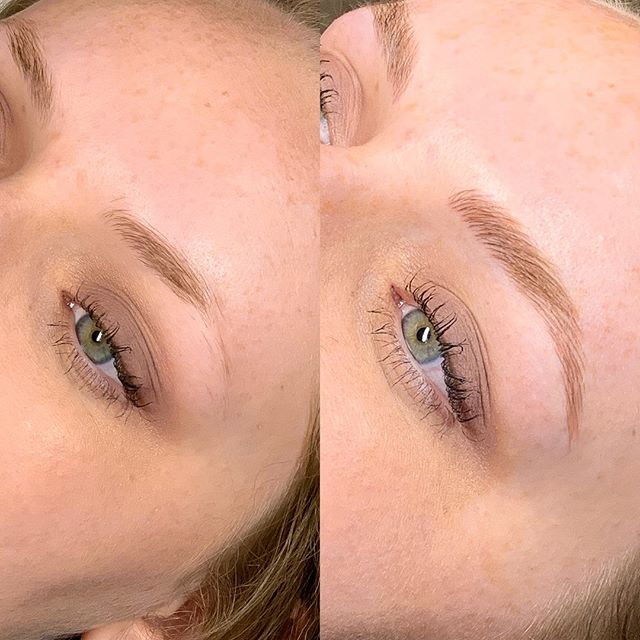 We're in love with this before and after microblading by @hannahsimpsonbeauty 😍😍😍