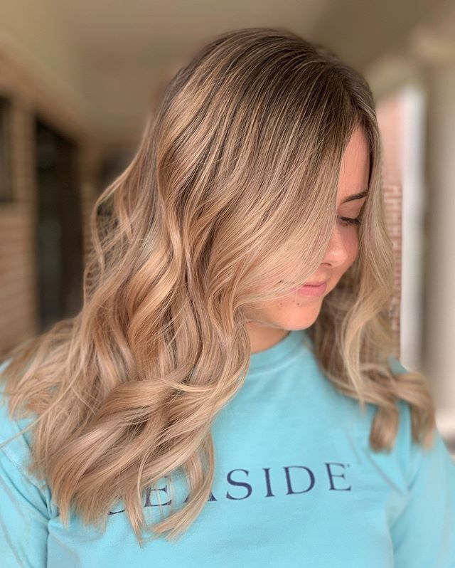 "When we first met Kate she had level 5 (medium/dark brown) hair. We've steadily been doing a balayage/ foiling combo, adding some soft layering and face framing to send her off for her freshman year at Alabama! Thanks for trusting us with the ""blonding"" process, Kate 😘⠀⠀⠀⠀⠀⠀⠀⠀⠀ ⠀⠀⠀⠀⠀⠀⠀⠀⠀ It's not too late to see us before school starts! Tap the link in our bio to book today!⠀⠀⠀⠀⠀⠀⠀⠀⠀ ⠀⠀⠀⠀⠀⠀⠀⠀⠀ Hair by @hairbykatiejane @crownuptwn"