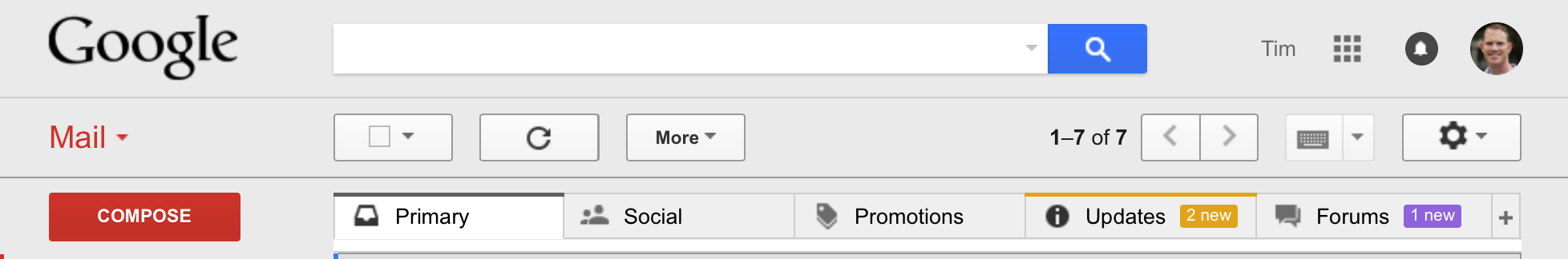 Gmail on Google Apps for Work Screenshot