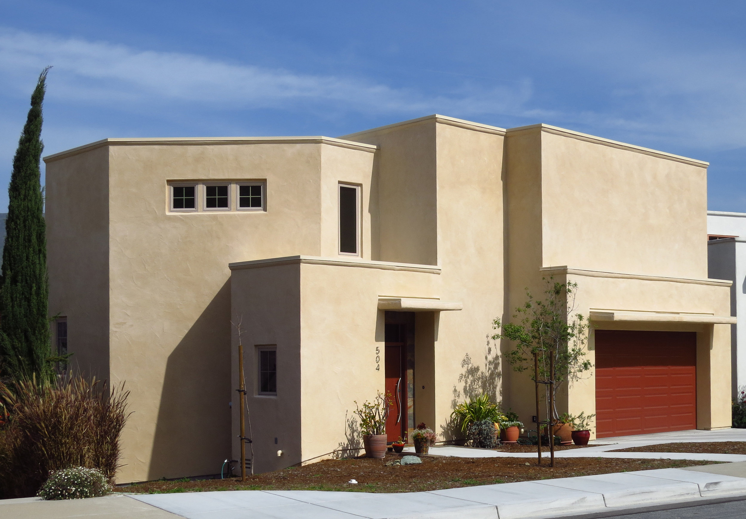 New Residence in San Luis Obispo, CA. Modern Greek style Architecture.