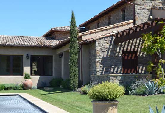 New Residence in Arroyo Grande, CA. Tuscan Mediterranean style architecture.