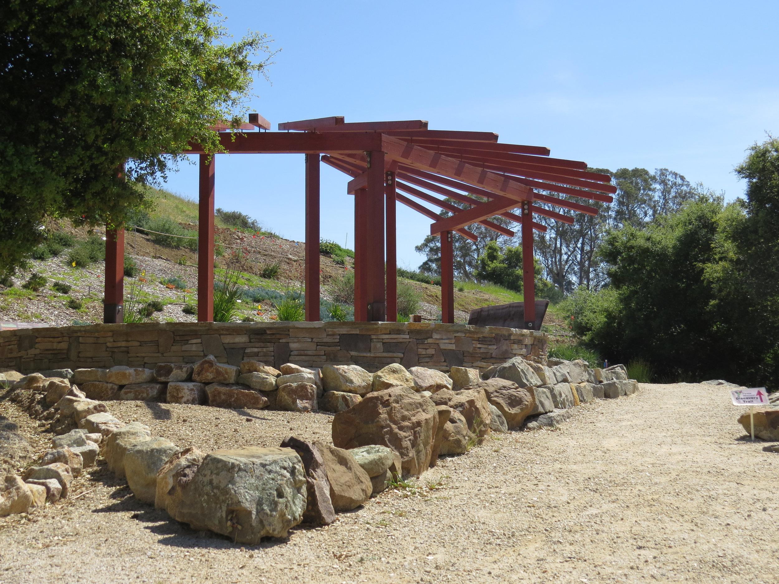 San Luis Obispo Botanical Garden Fire Safe Pergola