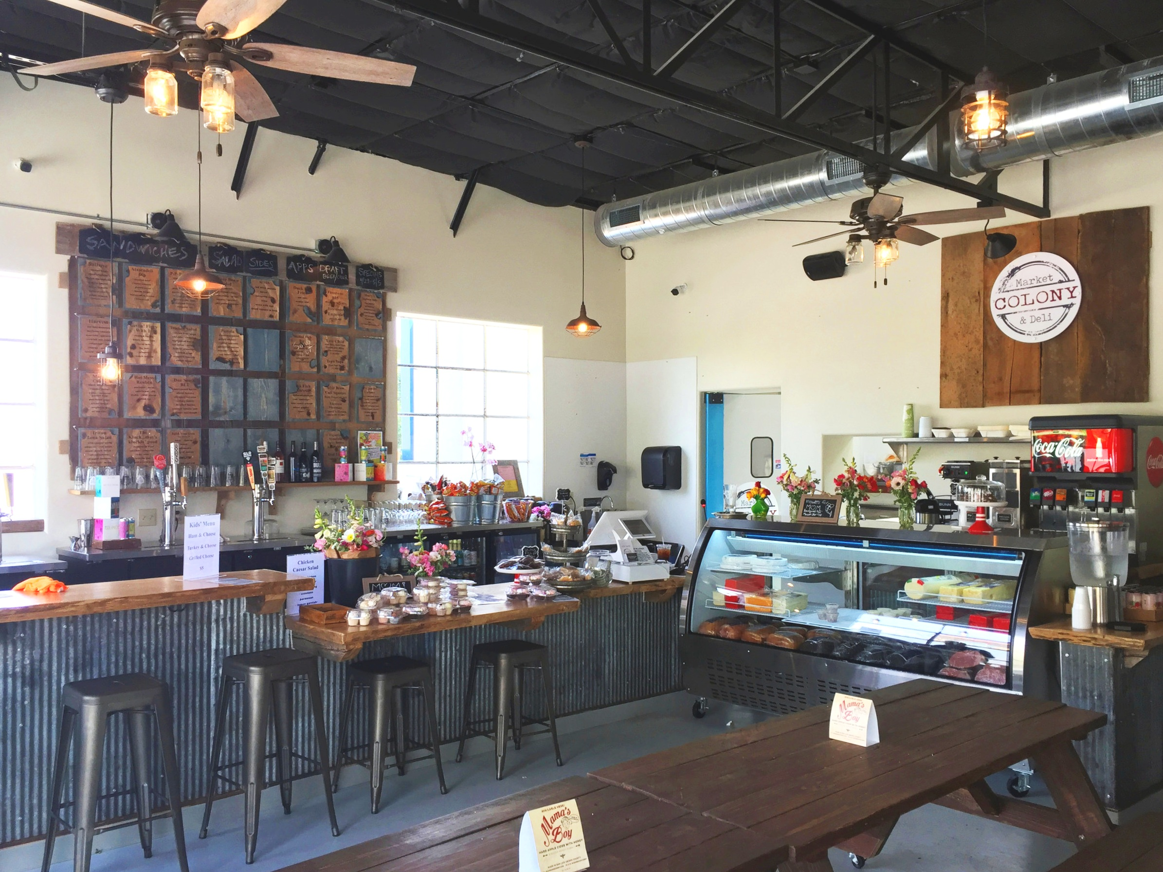 Colony Market and Deli interior