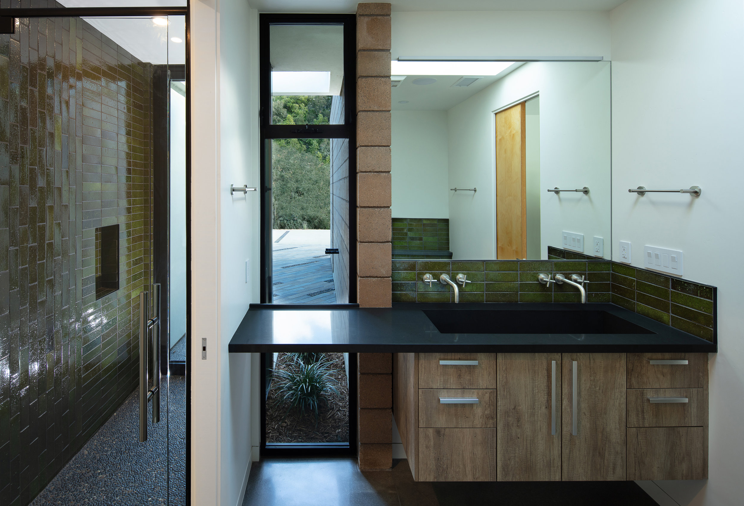 master bathroom landscape