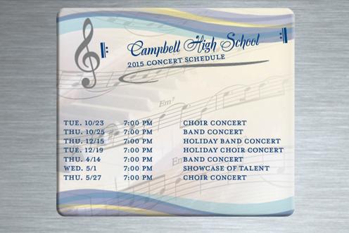 Concert Schedule Magnets