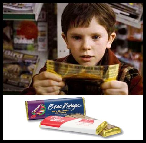 Golden Ticket Chocolate Bars