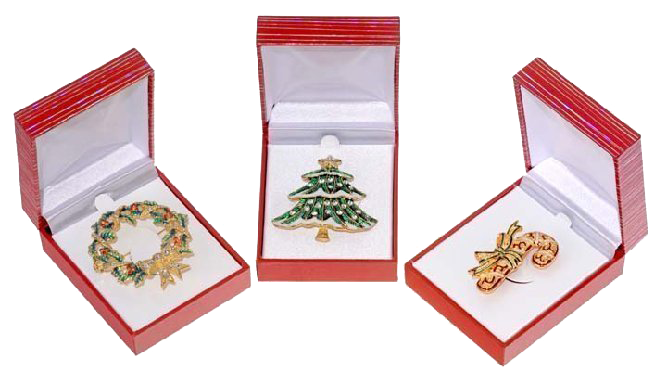 Holiday Brooches