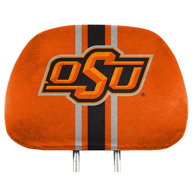 full print headrest cover
