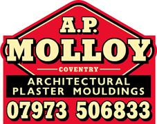 A.P. Molloy Architectural Plaster Mouldings - Tel: 07973 506833