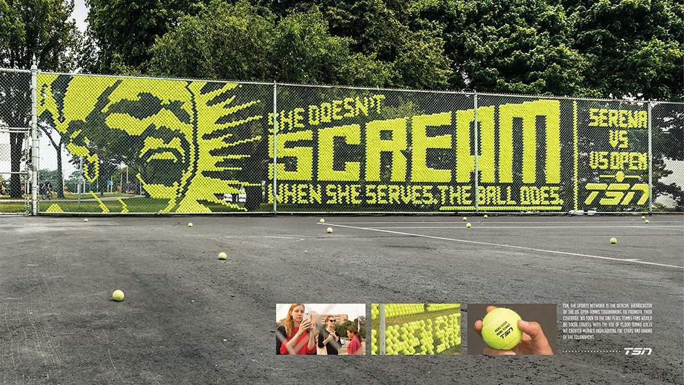 Shedoesn't scream when she serves, the ball does. (feat. Serena Williams)