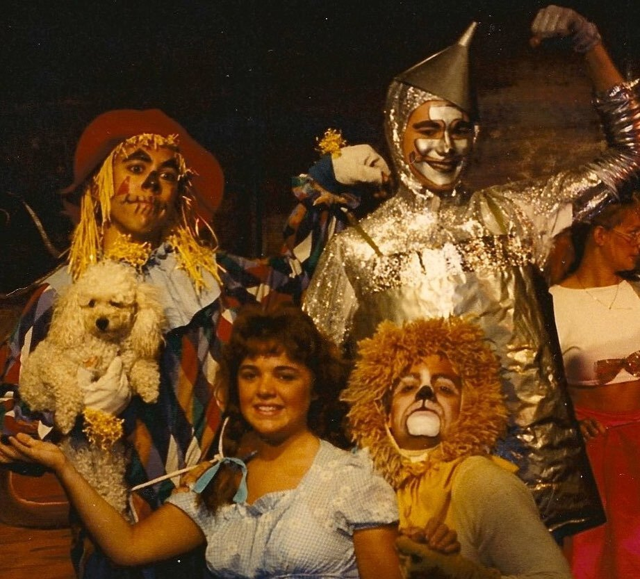 #tbt To 1988 at @theatreforyoungamerica in Kansas City and The Wizard of Oz. Dean Vivian as Scarecrow, Michael-Ann Madson as Dorothy, Scott Cordes as Lion, and me as Tin Man. . . #childrenstheatre  #wizardofoz #tinman #acting