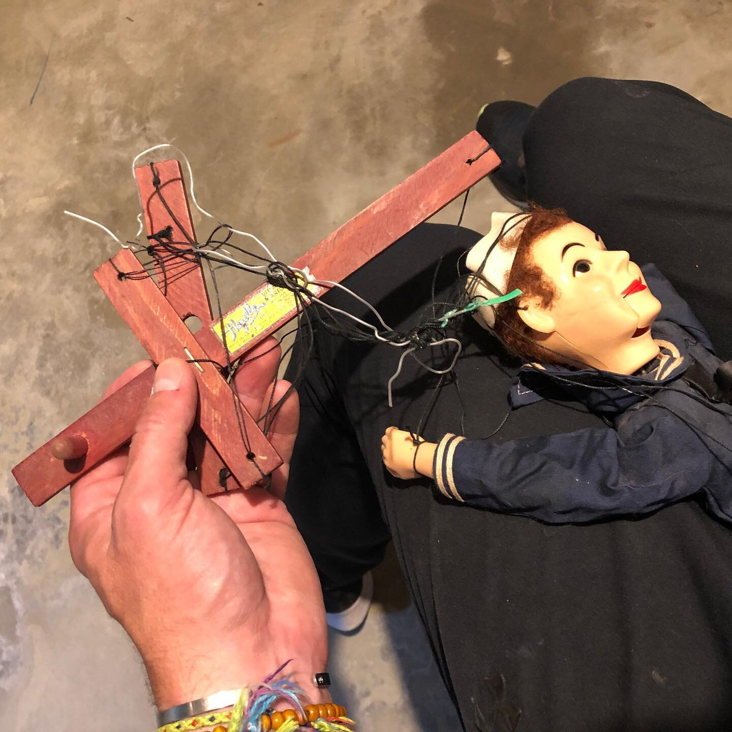 Tangled. . . #puppets #marionettes  #childhoodtoys  #justalittlepatience