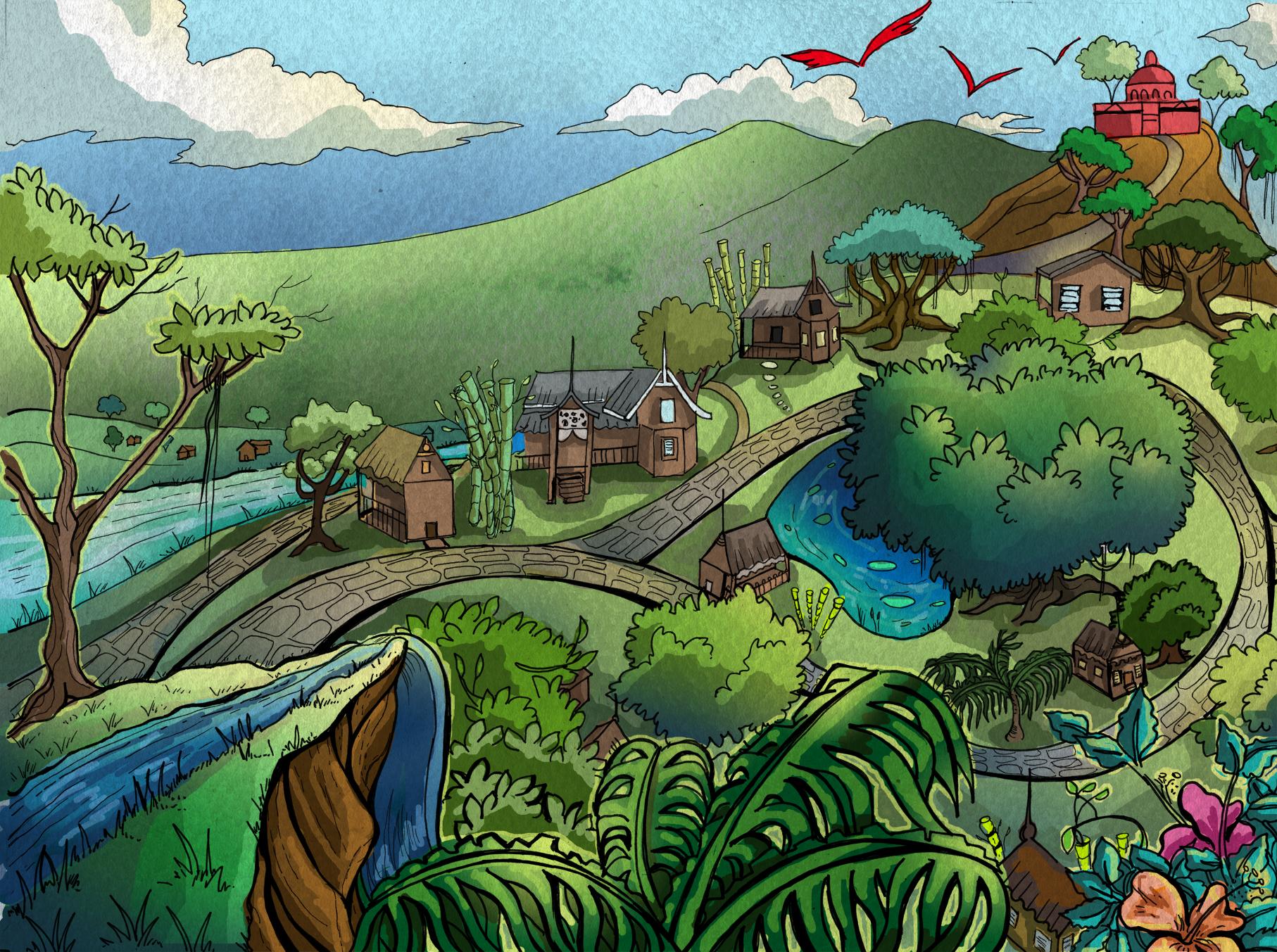 A Princess' Journey Intro Page Art