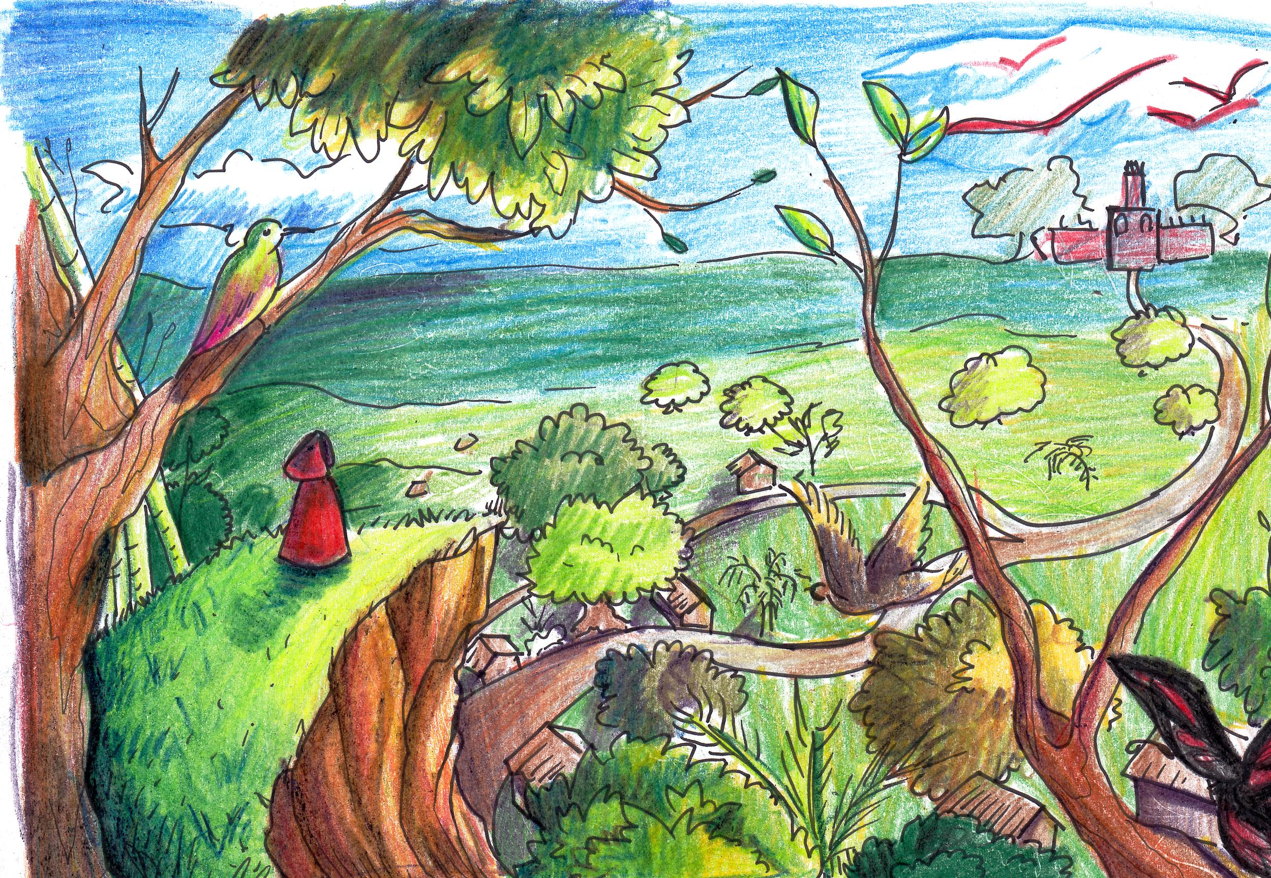 A Princess' Journey Concept Sketch Intro Page