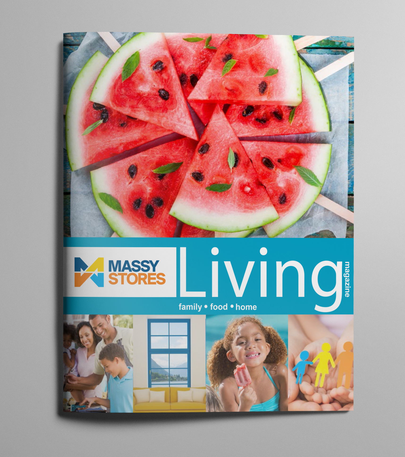 Massy Living Issue 1(Premier Issue) - Client: Phoenix Communications Ltd.Description: Design and Layout Artwork for Massy Living, the first regional magazine published by Phoenix Communications for Massy Stores Ltd. This magazine features delicious