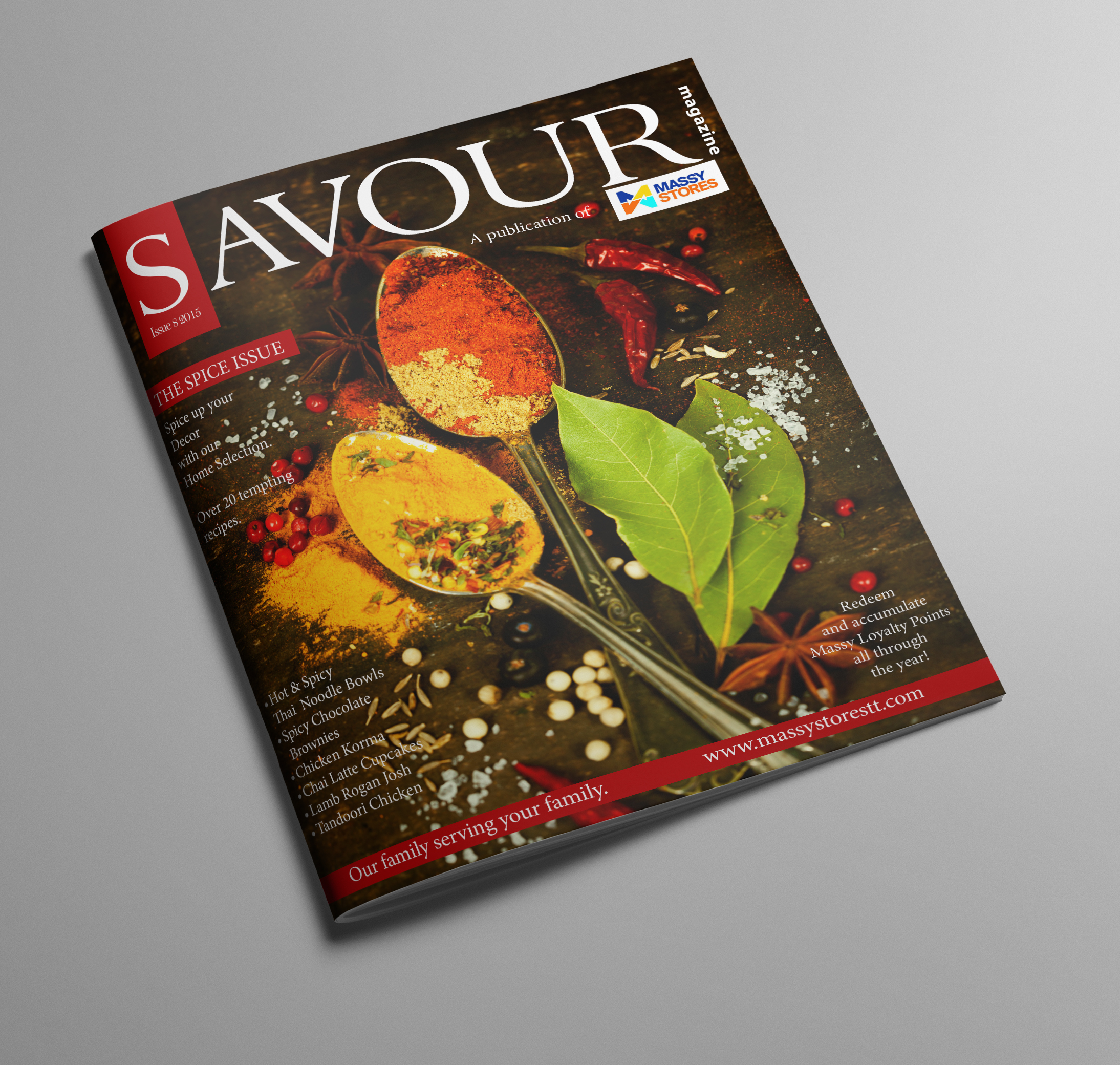 SAVOUR Issue 8 - Client: Phoenix Communications Ltd.Description: Design and Layout Artwork for Savour, the local magazine published by Phoenix Communications for Massy Stores Ltd. Trinidad and Tobago. This magazine features delicious
