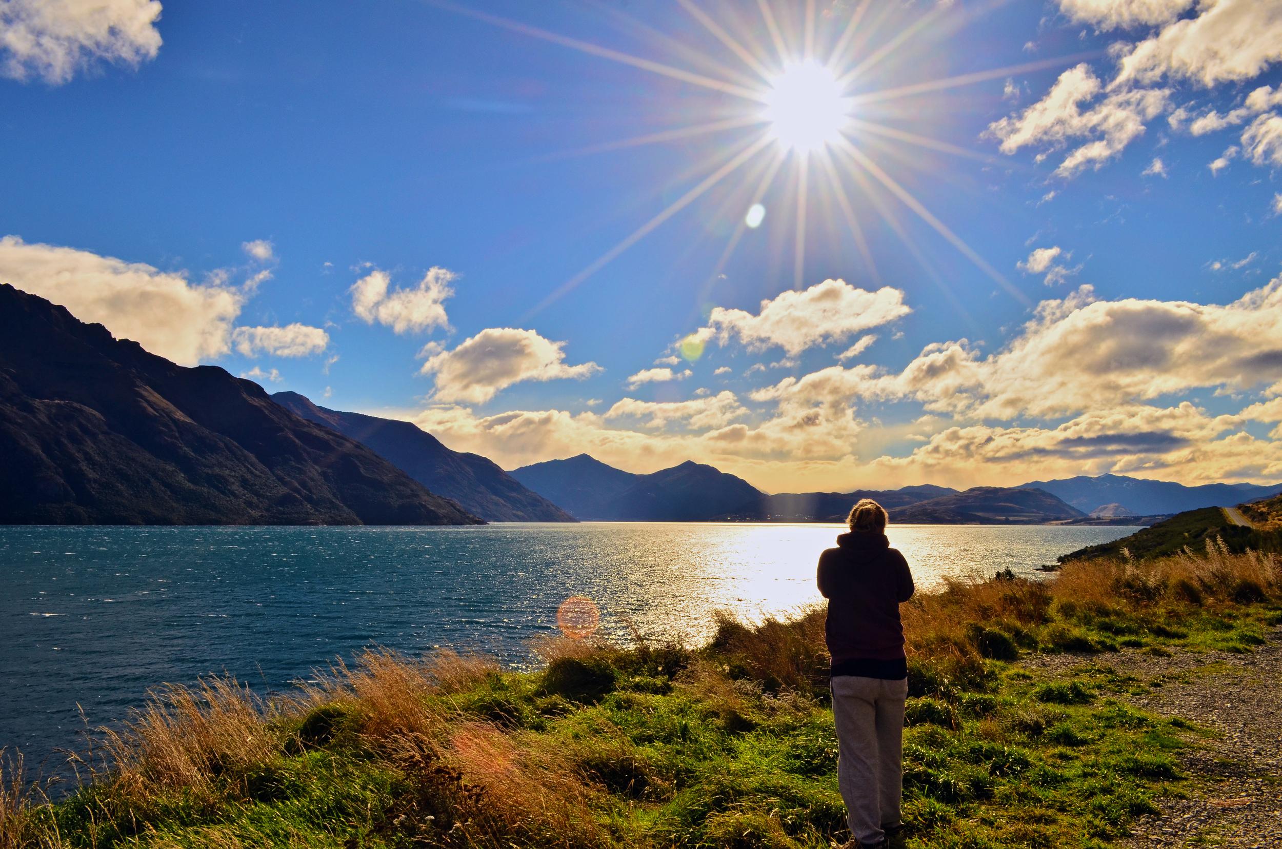 (1) Lake Pukaki, South Island.