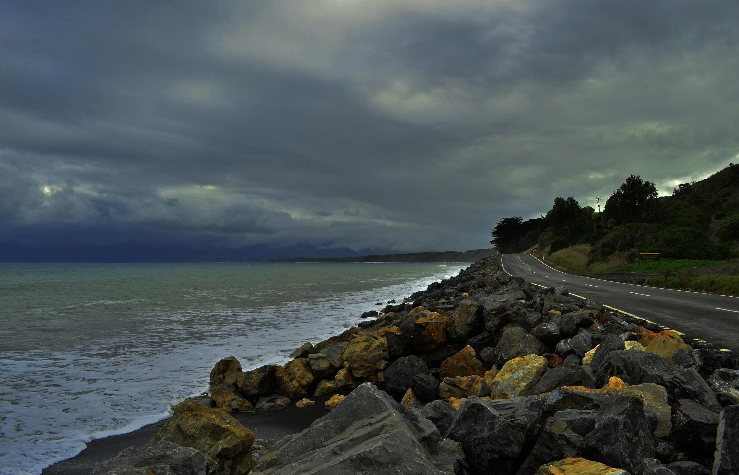 [3] Road to Cape Palliser, North Island.