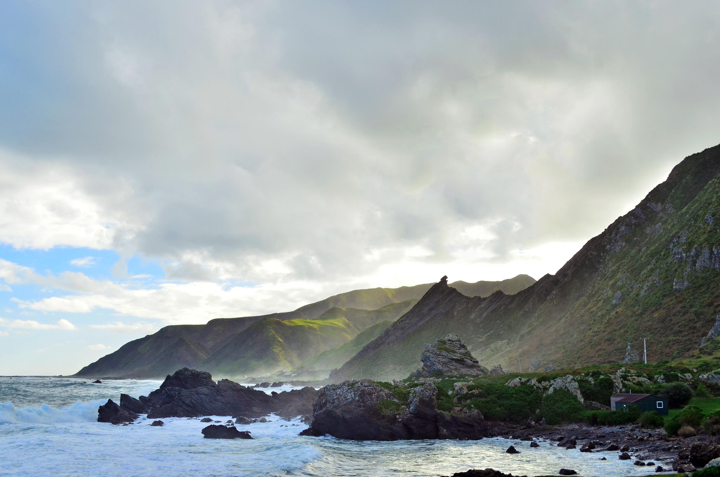 [5] Cape Palliser Coast, North Island.
