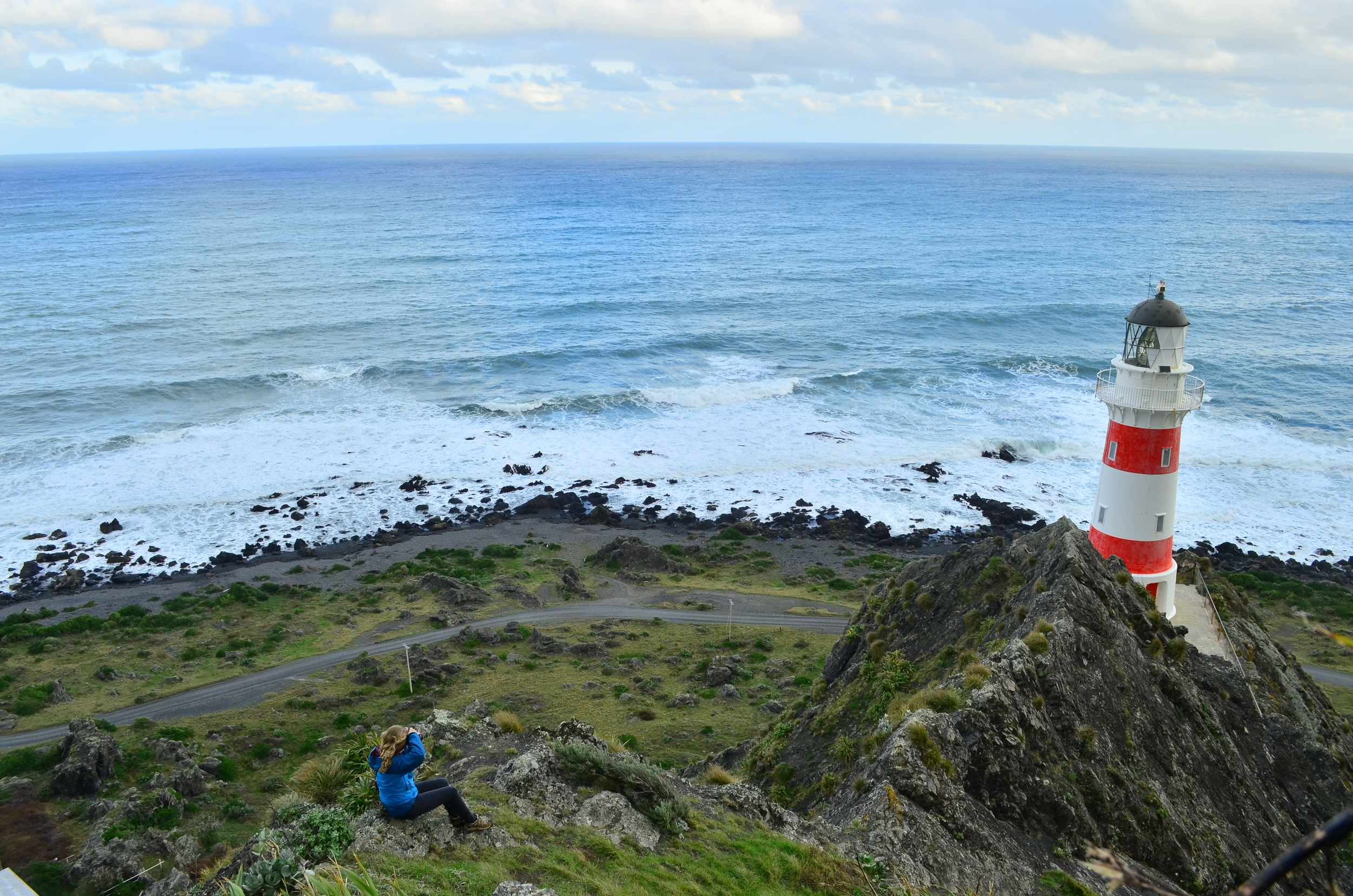 [13] Shots of the Cape Palliser Lighthouse, North Island.