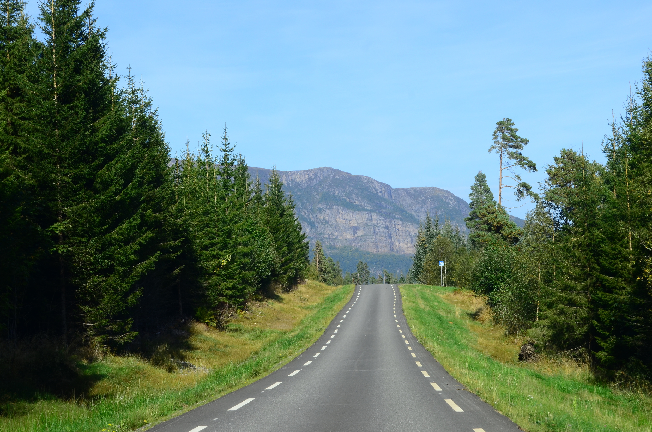 Road to Taknes Bay, Norway.