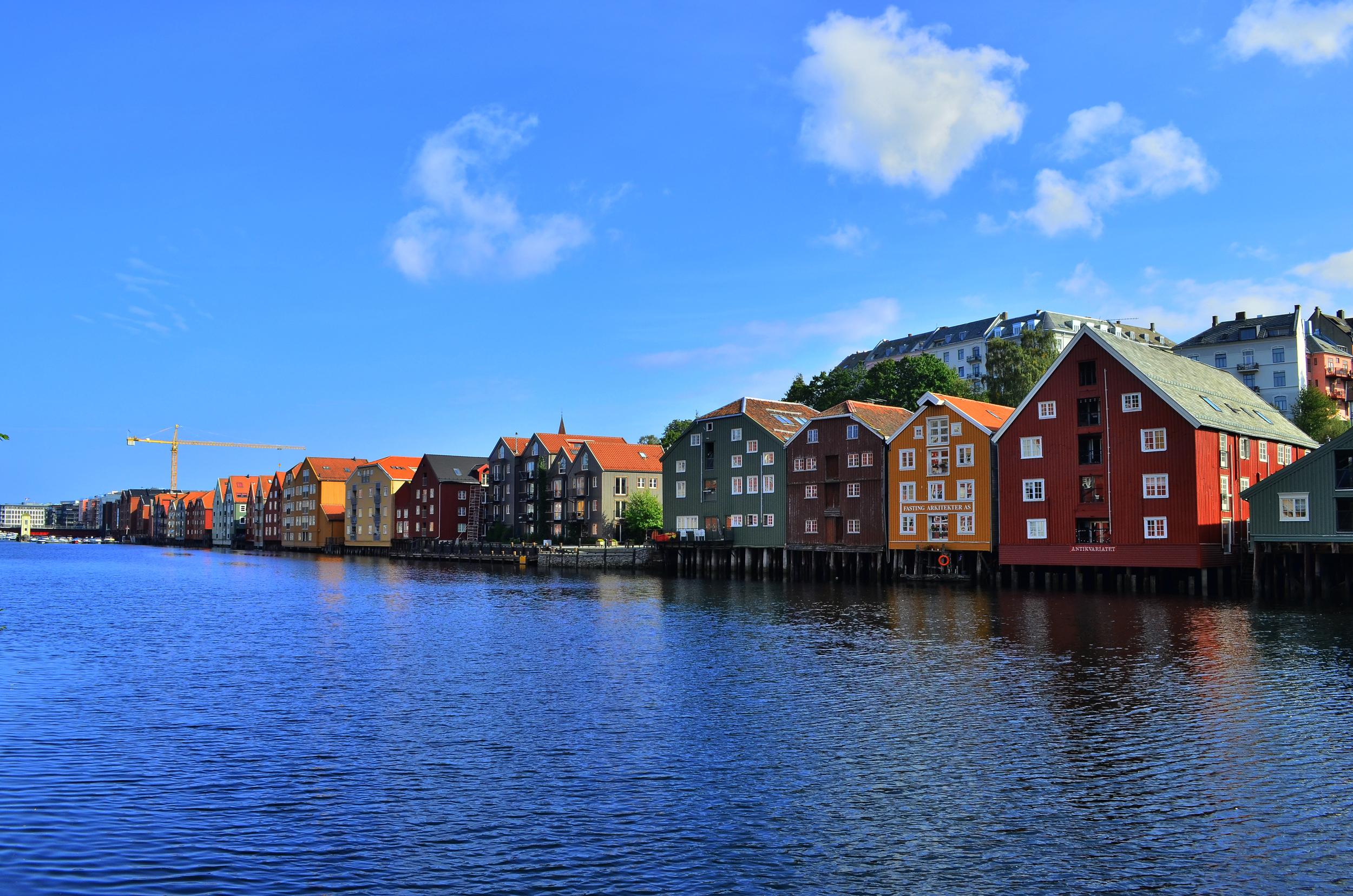 Beautiful Trondheim, Norway.