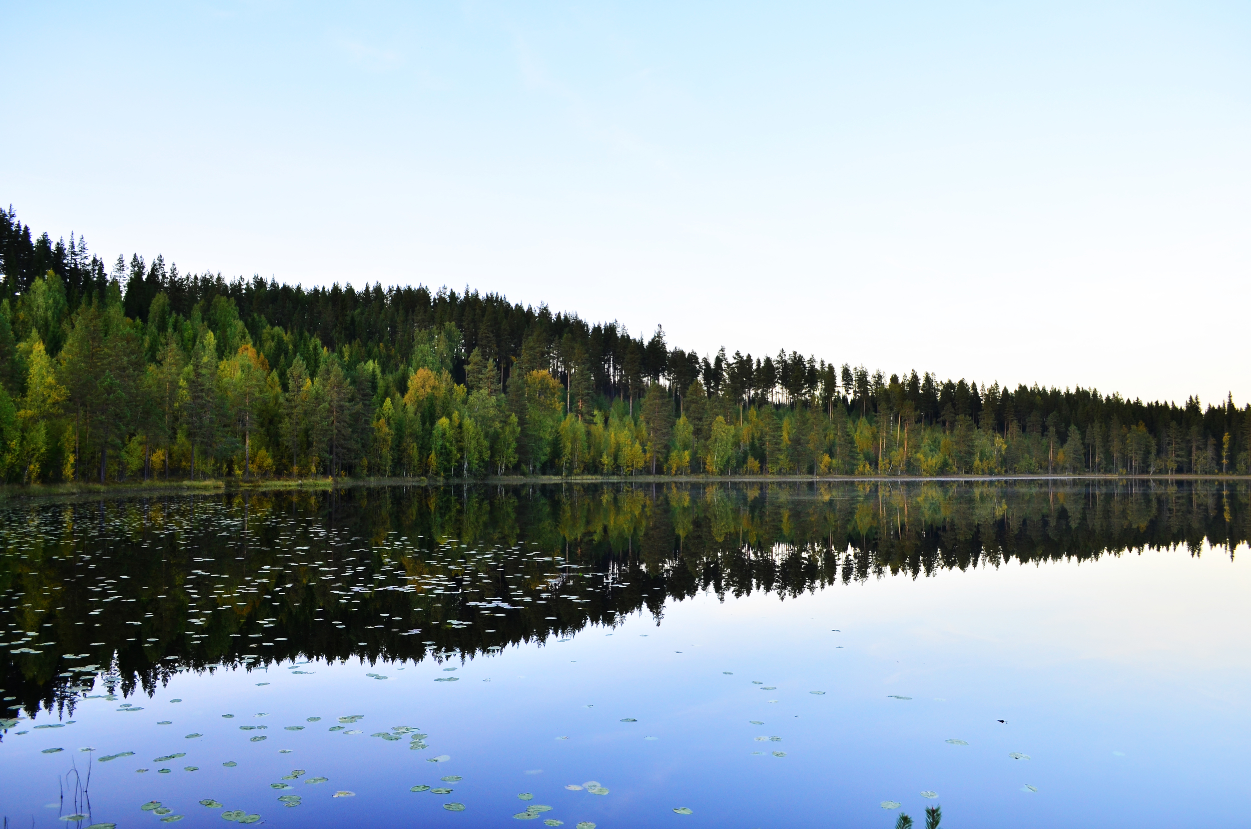 Lake Reflections, Jämtland, Sweden.