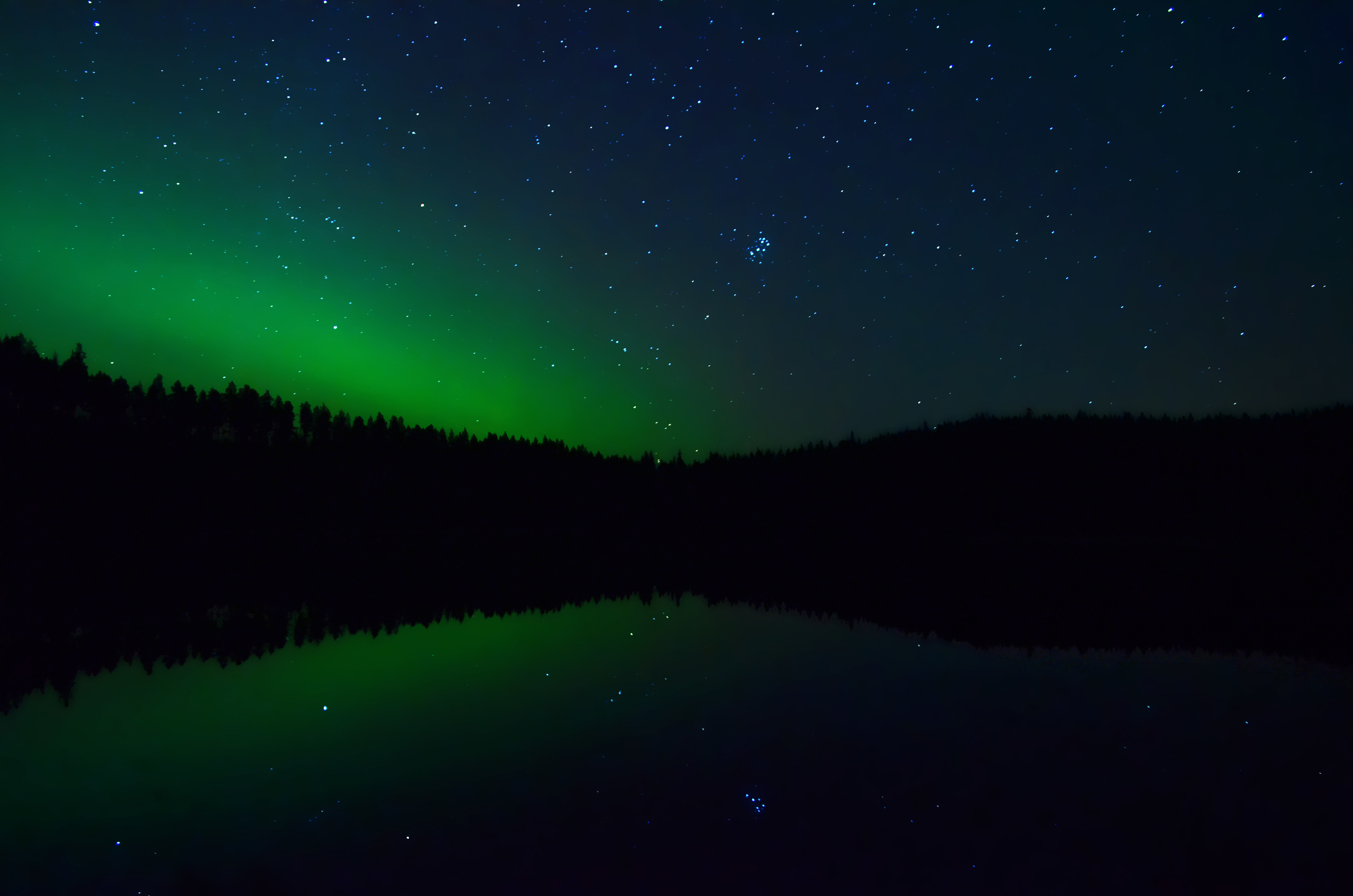 Starry Night on the Lake, Sweden.