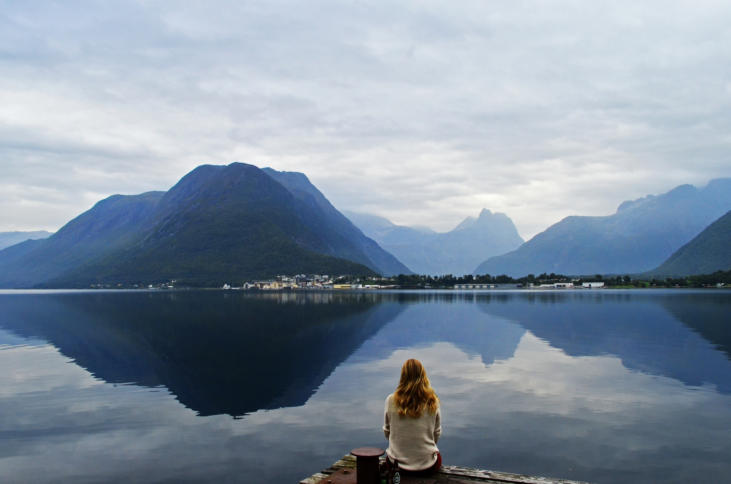 Gazing into the Fjord, Norway.