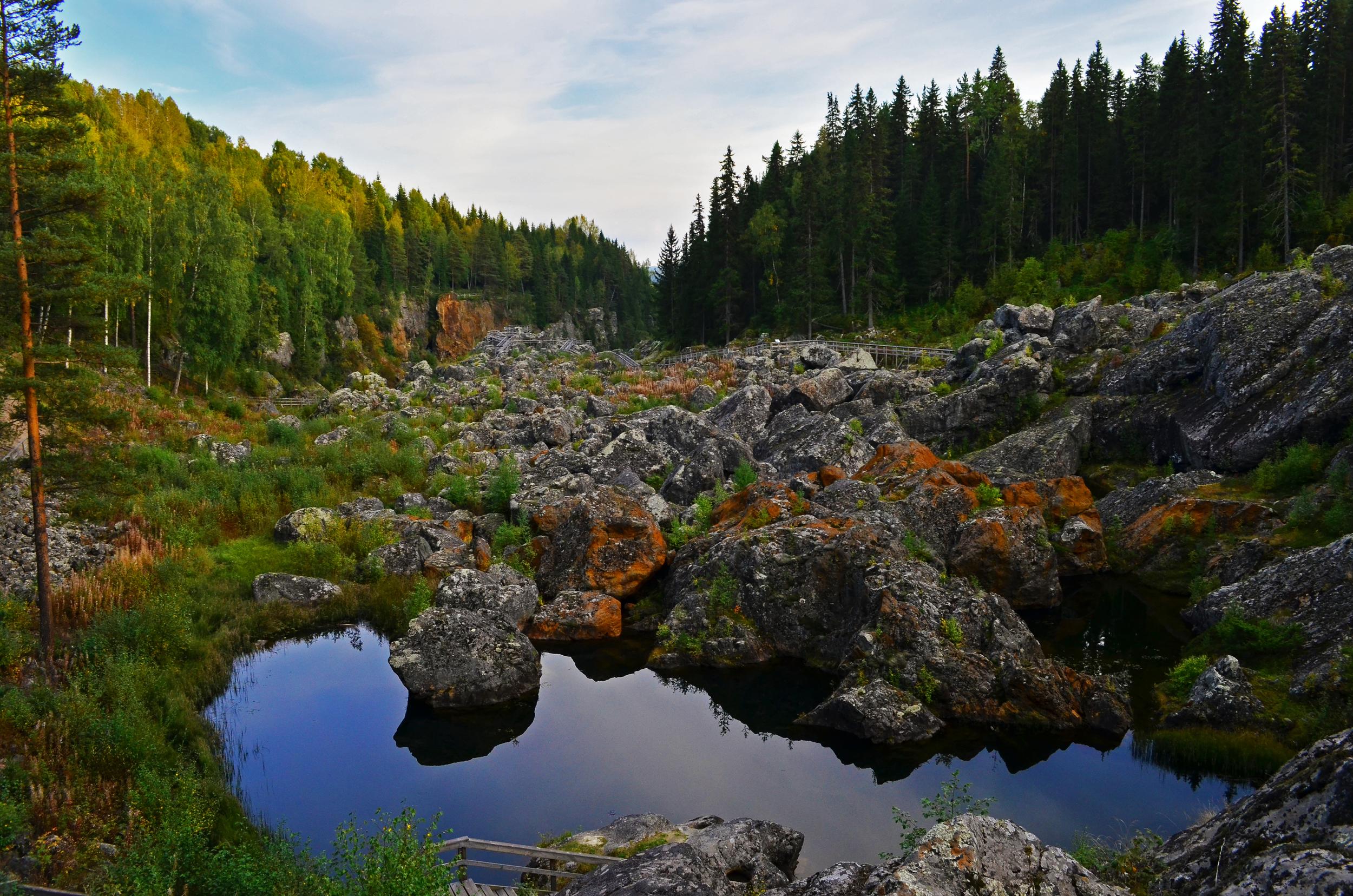 Doda Fallet, The Dead Waterfall, Sweden.