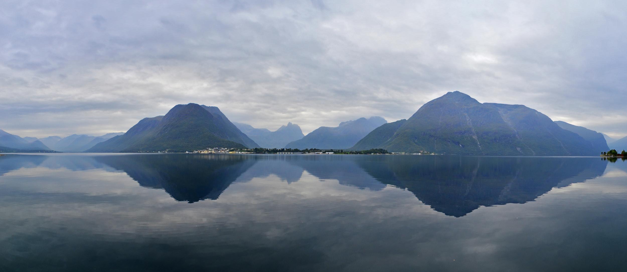 Reflections of Romsdalsfjorden, Norway.