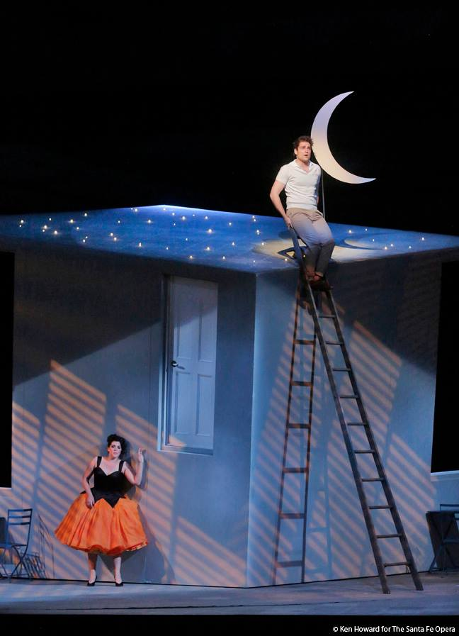 """Indeed, she exploded into the spotlight of the Santa Fe Opera last Saturday night, bringing a sparkling freshness both vocally and theatrically to a standard role of bel canto opera."" -"