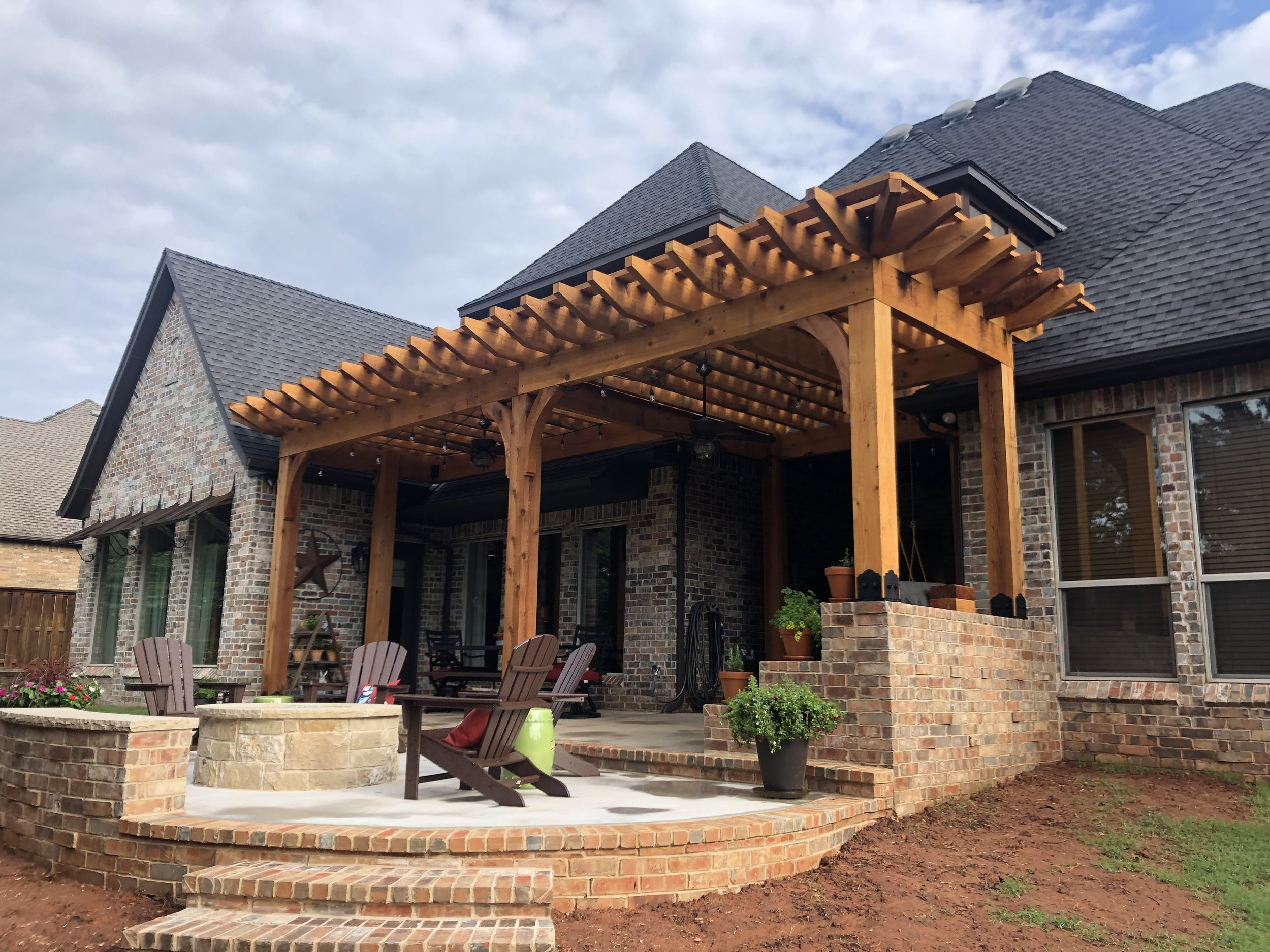 Latest Project    Pergola,Patio and Fire Pit