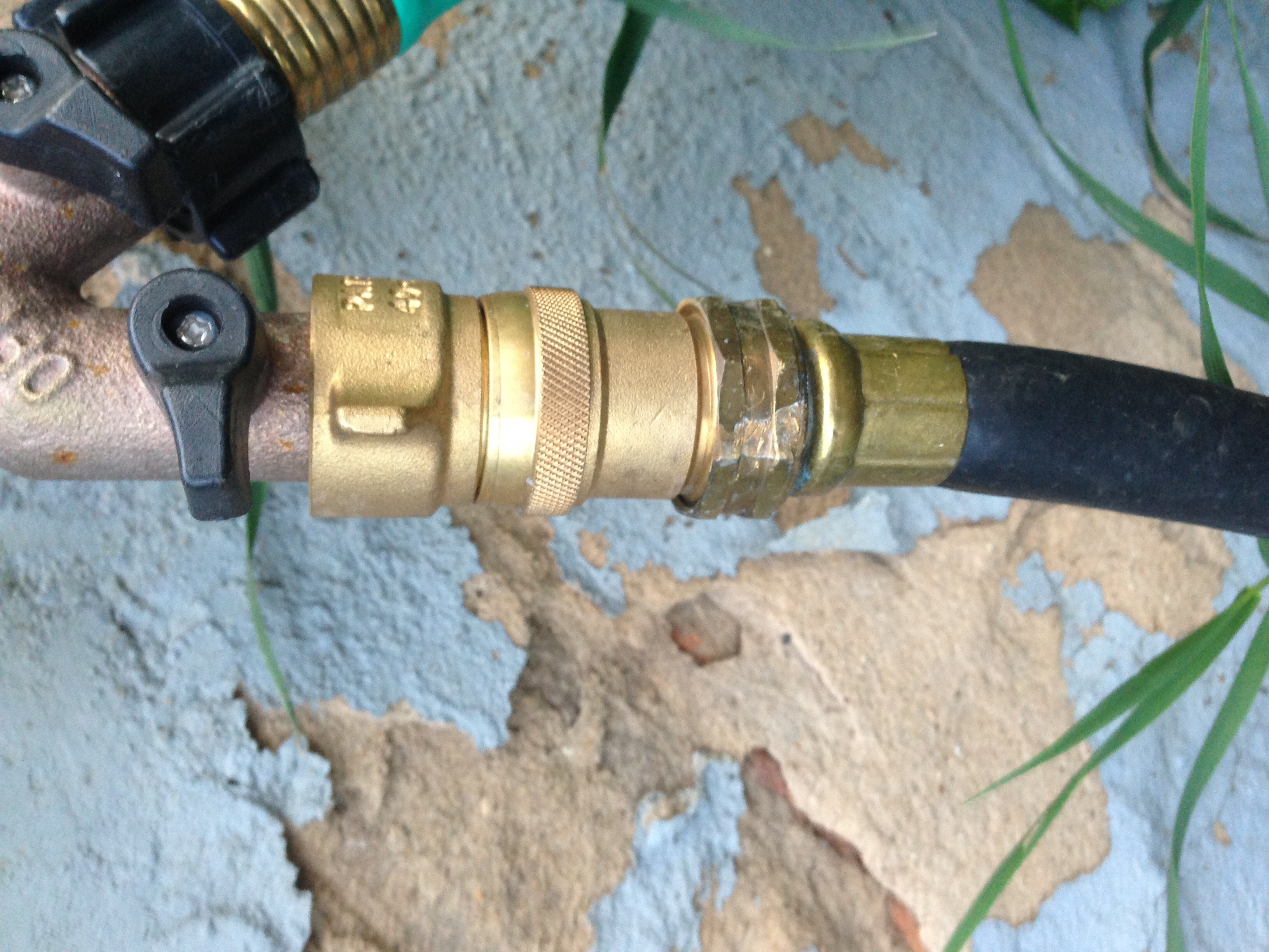 A brass pressure regulator was where I started, which made the leaks less frequent.
