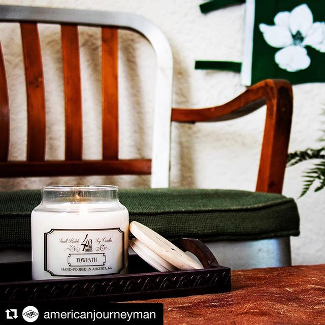 Yyyyyyyy'aaaaaaaallllllll - Do it for the cause! 👊🏻 #Repost @americanjourneyman with @get_repost ・・・ The 40 Wax Towpath candle will be back with us at the pop-up shop next week at The Book Tavern! 8-14 April. 10% of all sales will go to support @laura_fulmer and her charitable support to the @leukemialymphomasociety These babies go fast and are a great Augusta gift for a whiff of home. . . . 📸: @markthemcbride . . #booktavern #broadstreet #loveaugusta #exploreaugusta #lovedowntown #downtownaugusta #supportdowntown #40wax #shawwalker