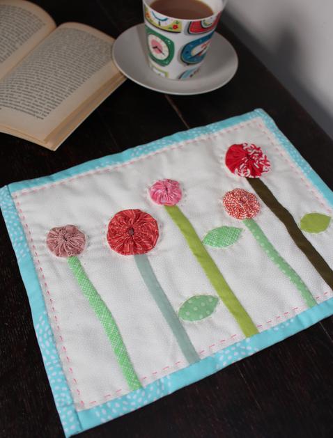 flower applique mat elizabeth betts