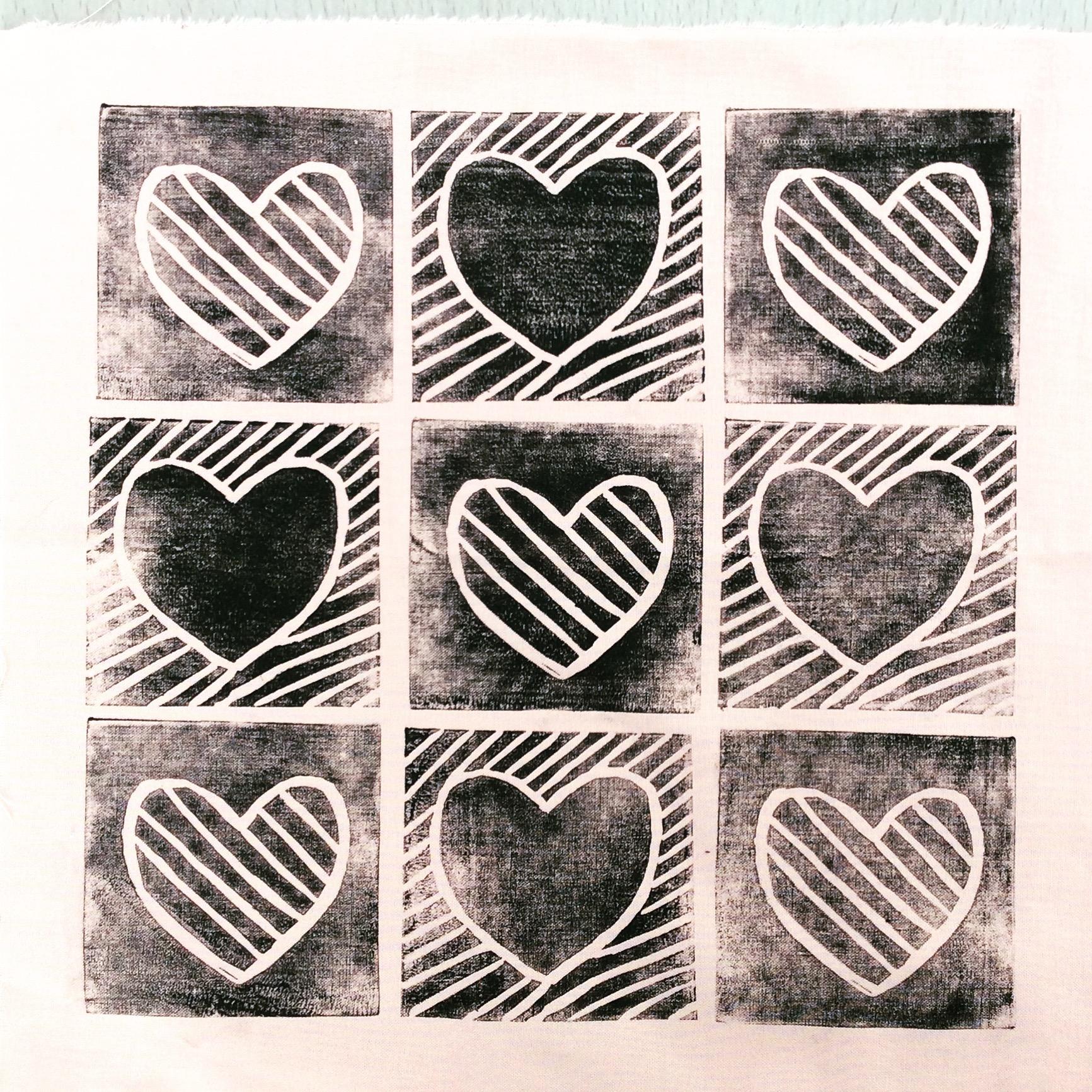 My 'Eighties Hearts' design